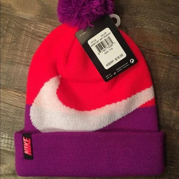 87d211554 Nike Sportswear Pom Beanie Purple/Orange/White NWT